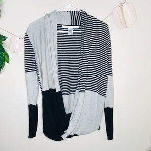 🔥max studio cardigan sweater striped top open